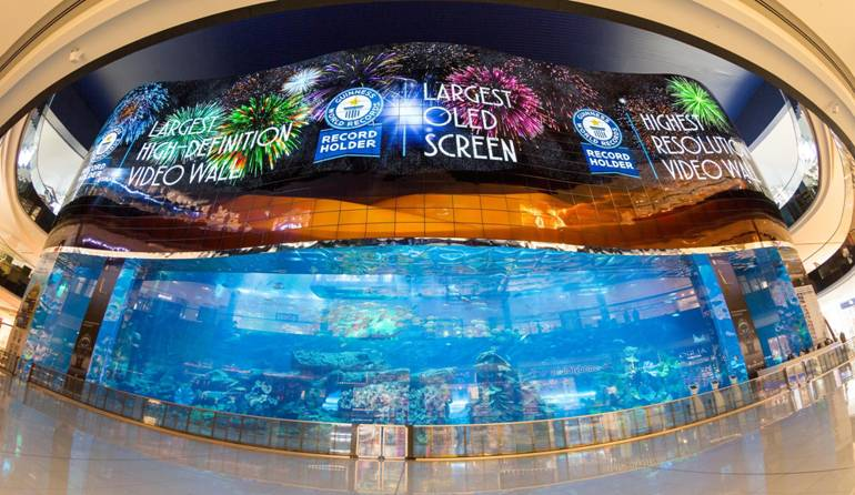 DATATON WATCHOUT drives world's highest resolution video wall at the Dubai Mall