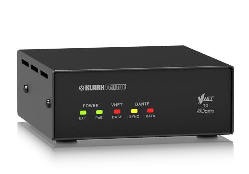Vnet2 Dante Bridge | Audio | Klarkteknik | Loudspeaker Accessories | PRO LAB