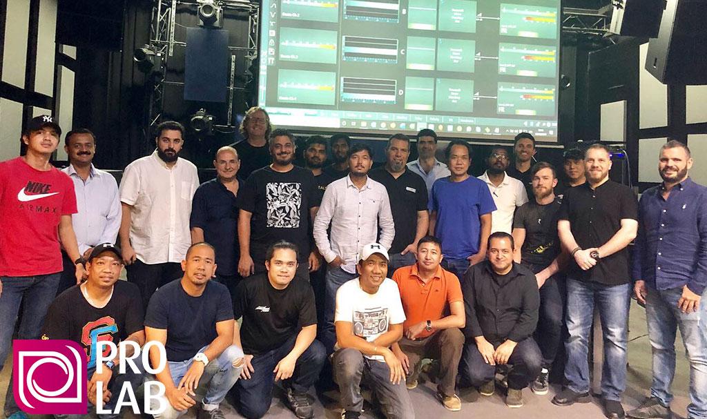 PRO LAB hosts Powersoft fixed install training in Dubai