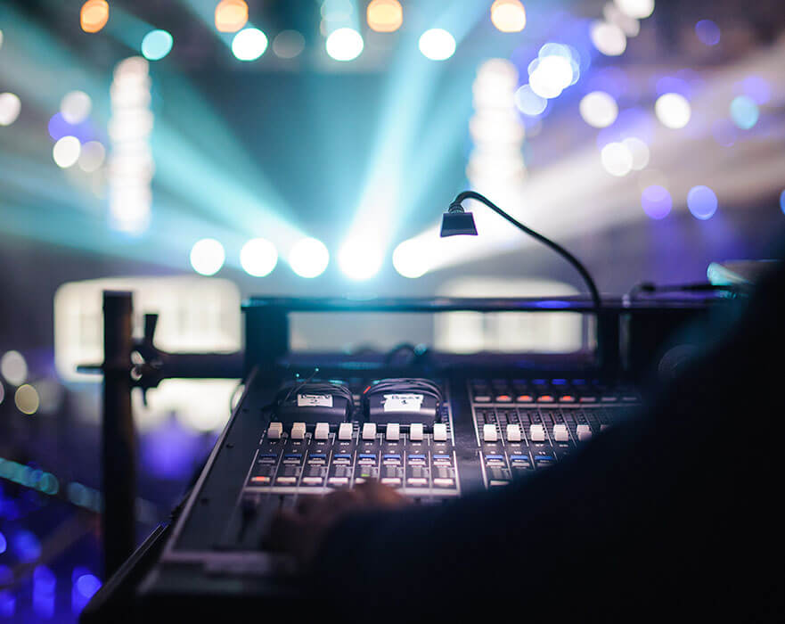 Audio Visual and stage equipment retail and distribution in Dubai